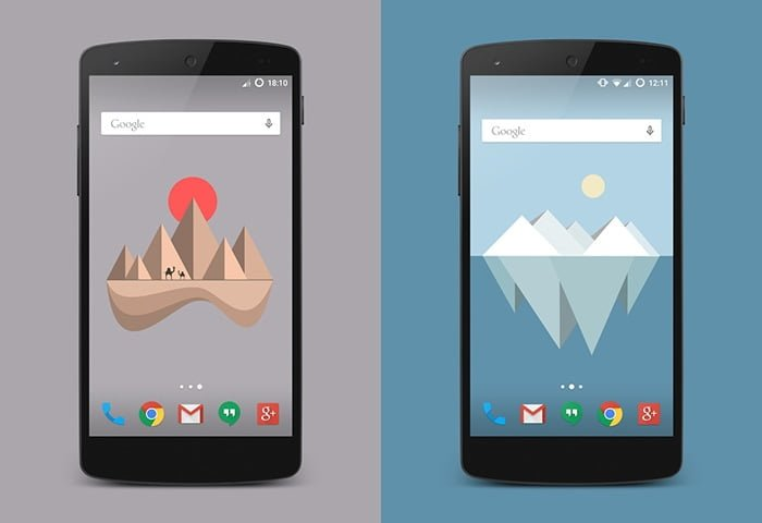 fondos material islands android